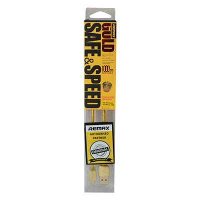 MOBILE ACCESSORIES: REMAX GOLD SAFE & SPEED LIGHNING CABLE